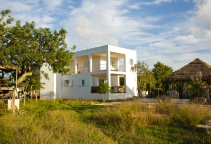 Newly built 3 bedroom countryside villa for sale San Agustin Ibiza with distant sea views 1