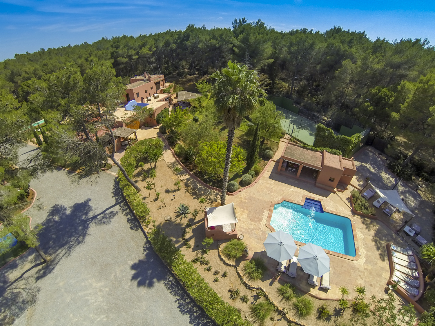 Traditional ibizan style villa offering lots of privacy for Ibiza country villas