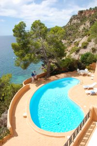 Beautiful villa in Es Cubells overlooking the sea