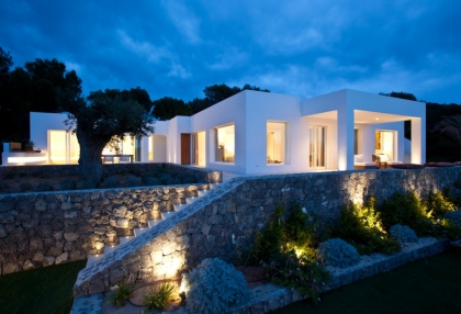Luxury modern contemporary villa with sea views for sale Cap Negret Ibiza 1
