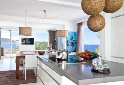 Luxury modern contemporary villa with sea views for sale Cap Negret Ibiza 17