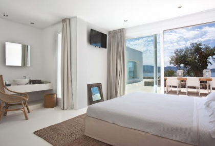 Luxury modern contemporary villa with sea views for sale Cap Negret Ibiza 18