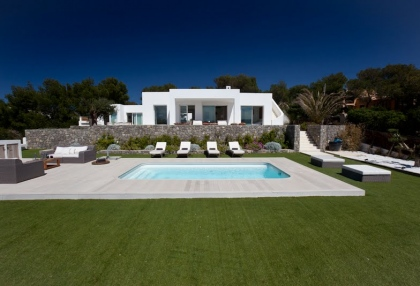 Luxury modern contemporary villa with sea views for sale Cap Negret Ibiza 2