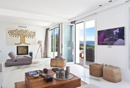 Luxury modern contemporary villa with sea views for sale Cap Negret Ibiza 26