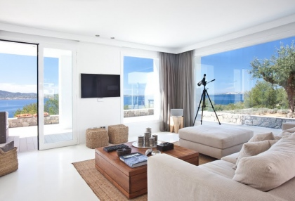 Luxury modern contemporary villa with sea views for sale Cap Negret Ibiza 27