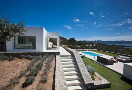 Luxury modern contemporary villa with sea views for sale Cap Negret Ibiza 3