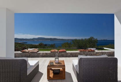 Luxury modern contemporary villa with sea views for sale Cap Negret Ibiza 4