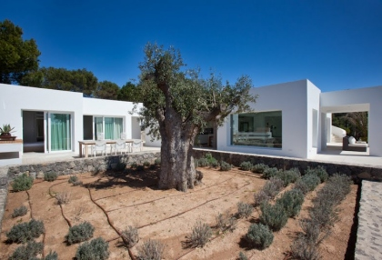 Luxury modern contemporary villa with sea views for sale Cap Negret Ibiza 5