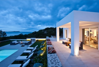 Luxury modern contemporary villa with sea views for sale Cap Negret Ibiza 6