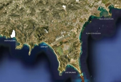 Sea view plot for sale Vista Alegre Es Cubells Ibiza with licence to build luxury 8 bedroom villa 6