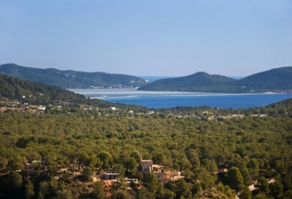 Plot for sale with project to build 5 bedroom modern villa gated community Vista Alegre Es Cubells Ibiza 3