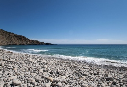 Frontline plot at Cala Jondal Beach with 2 villas for sale 1