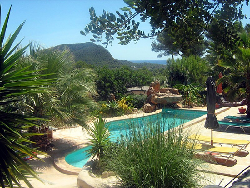 Charming, private Finca for sale with 3 separate Guest Houses & Sea Views in Roca Llisa, Ibiza