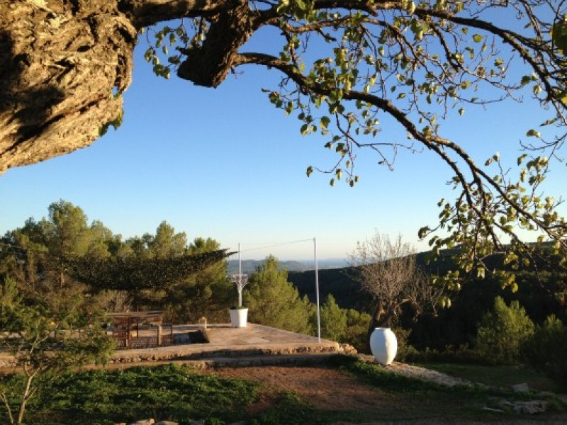 Traditional stone house for sale near Santa Gertrudis, Ibiza with Sea Views