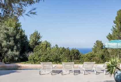 North Ibiza sunset & sea views from this private modern villa 5