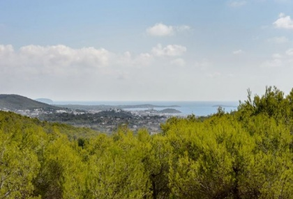 Secluded villa for sale Santa Eularia Ibiza with distant sea views 1