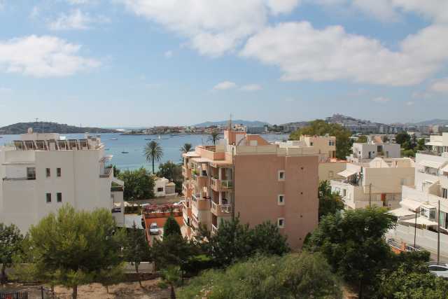 Modern apartment with great views of Ibiza Old Town near ...