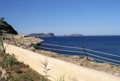First line to sea frontline villa for sale Santa Eulalia Ibiza 2