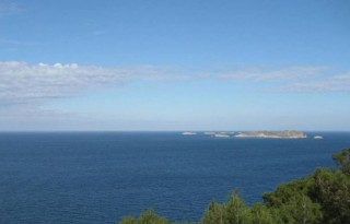 Sea view double plot for sale West Coast Ibiza FULL LICENCES