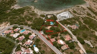 Ibiza luxury villa construction land frontline to sea Cap Martinet