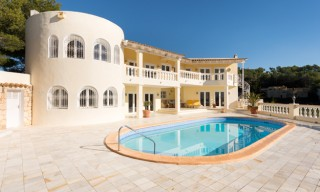 Elegant Can Furnet villa with views to Ibiza Town & the sea