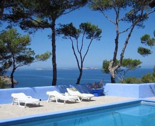 Beautiful coastal home for sale Cala Salada Ibiza with sea views & sunsets