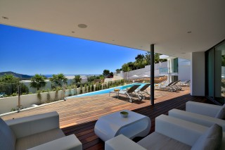 Large contemporary sea view villa near Cala Jondal, Ibiza