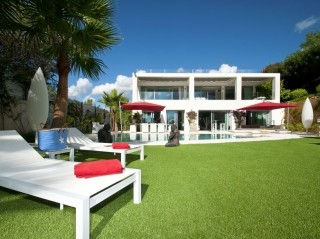 Sea view luxury contemporary house in Talamanca area of Ibiza
