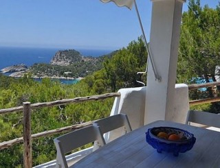 House for sale with amazing views over the bays of Ibiza and Cala Salada
