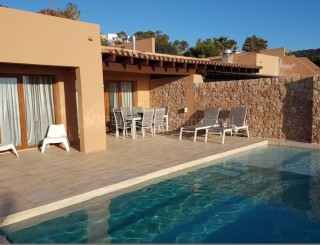 Terraced sea view house for sale in Cala Tarida