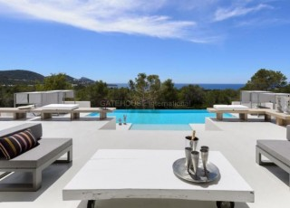 Luxury contemporary villa for sale with views over Es Vedra
