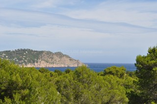 Seaview villa in a large private plot near Es Figueral, San Carlos