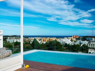 Santa Eularia Contemporary Ibiza town house with separate apartment