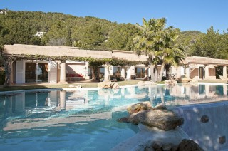 Impressive luxury Es Cubells villa in beautiful country setting with sea views