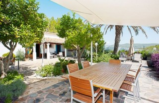 San Lorenzo Ibicenco finca for sale with stunning sea views