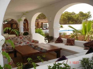 seaview villa for sale - pool terrace