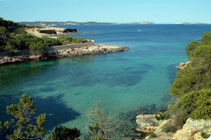 View from front line property in Cala Grazio, Ibiza.